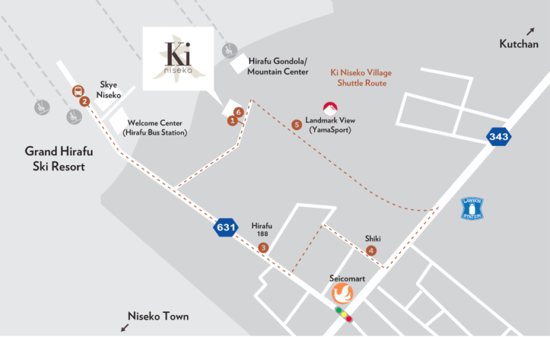 Ki Niseko Shuttle Map