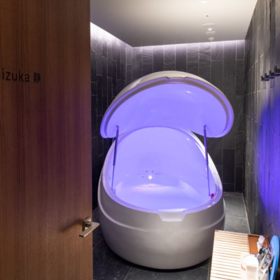 Find meditative bliss in our warm water Float Tank.